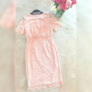 ASOS Pink Lace Dress 8
